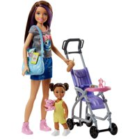 Barbie Skipper Babysitters Inc. Stroller Doll and Playset