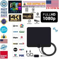 Antenna TV Digital HD 200 Mile Range Skywire TV Indoor 1080P 4K 16ft Coax Cables