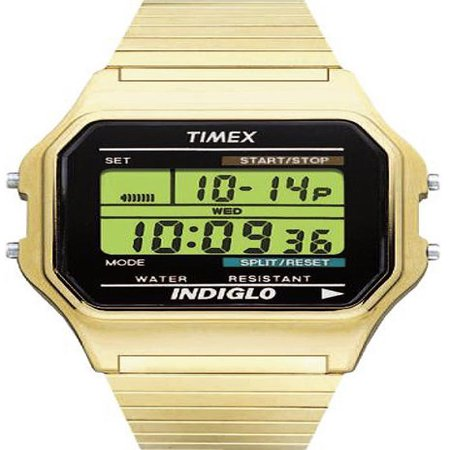 Timex Clip Watch - Timex Men's Classic Digital Watch, Gold-Tone Stainless Steel Expansion Band