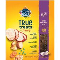 Nature's Recipe True Treats with Turkey, Pea & Carrot, Grain-Free, Natural, Chewy Dog Treats, 16 Ounce Bag