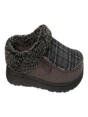 Dearfoams Men's Microsuede Moc Toe Clog with Berber Cuff Slippers