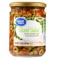 (4 Pack) Great Value Sliced Salad Olives, 10 oz
