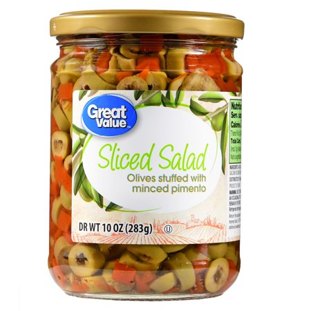 (4 Pack) Great Value Sliced Salad Olives, 10 oz (Best Olives To Eat)