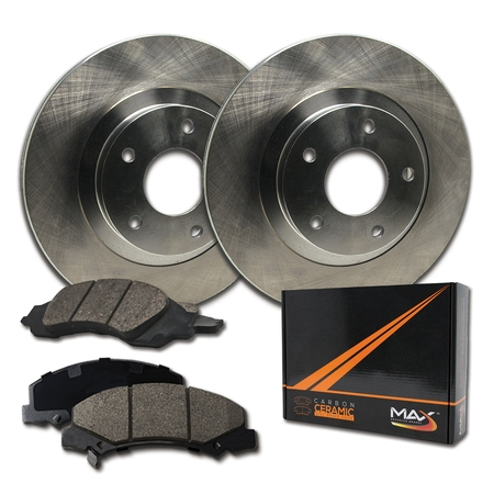 Max Brakes Front Premium Brake Kit [ OE Series Rotors + Ceramic Pads ] KT140841 | Fits: 2014 14 2015 15 Chevy Cruze GAS Engine Models w/276mm Front Rotor - image 8 of 8