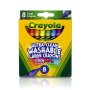 Crayola Ultra Clean Washable Crayons, Large Crayons, 8 Count