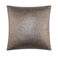 """Mainstays Metallic Decorative Throw Pillow 18"""" x 18"""", Silver, Multiple Colors"""