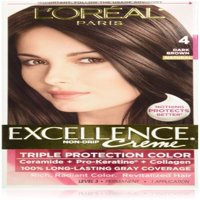 L'Oreal Paris Excellence Triple Protection Permanent Hair Color Creme, Dark Brown [4] 1 ea