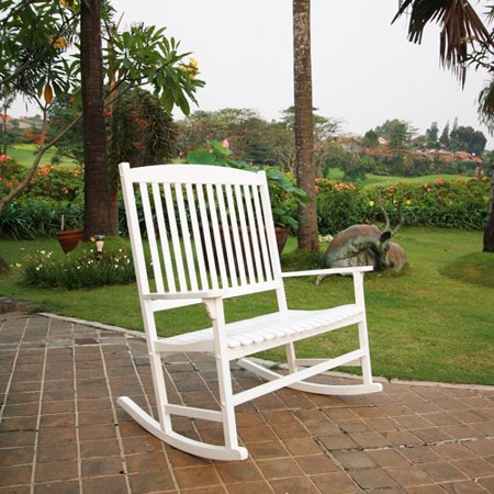 Rustic High Back Rocking Chair - Mainstays Outdoor 2-Person Double Rocking Chair