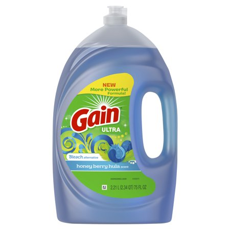 Liquid Dish Detergent - Gain Ultra Bleach Alternative Dishwashing Liquid Dish Soap, Honey Berry Hula, 75 fl oz