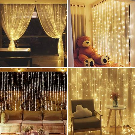 3mx3m 5 Colors 300Led Fairy String Lights Curtain Lamp Outdoor Garden Party Wedding Christmas Xmas Decor Plug 110v](Outdoor Wedding Decor)