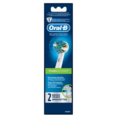 Oral-B Floss Action Replacement Electric Toothbrush Head 2 -