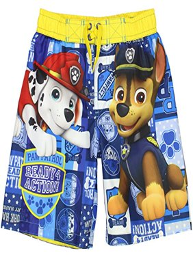 Paw Patrol Boys Swim Trunks Swimwear (5-6, Paw Patrol Blue)