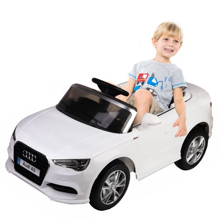 - Costway 12V Audi A3 Licensed RC Kids Ride On Car Electric Remote Control LED Light Music