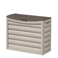 Suncast 83 Gallon Resin Deck Box, Light Taupe & Mocha, DB8300