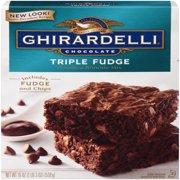 (2 pack) Ghirardelli Chocolate Triple Fudge Brownie Mix, 19 oz Box