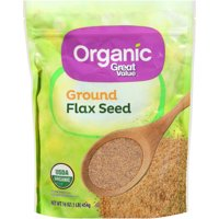 (4 Pack) Great Value Organic Ground Flax Seed, 16 oz