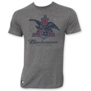 97e698c83592e Budweiser Men s Gray Pop Top Bottle Opener Vintage Eagle Logo T-Shirt