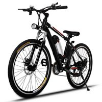 "Lowerest Price Ever 26"" 21 Speed 36V Electric Mountain Bicycle for Adults with Removable Lithium-ion Battery Integrated Mens Electric Bike, With LED Handlebar Display And LED Headlight"