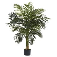 Nearly Natural 4-ft. Artificial Golden Cane Palm Tree