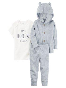 Product Image Carters Baby Boys 3-Piece Heathered Little Jacket Set Blue