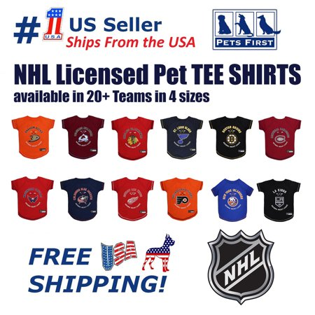 Pets First NHL Los Angeles Kings T-Shirt - Licensed, Wrinkle-free, stretchable Tee Shirt for Dogs & (Los Angeles Kings Framed)