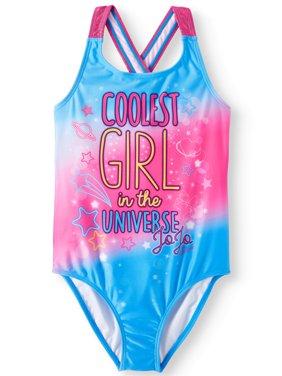 JoJo Siwa Crossback One-Piece Swimsuit (Little Girls & Big Girls)