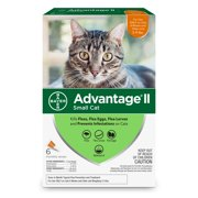 Advantage II Flea Treatment for Small Cats, 4 Monthly Treatments