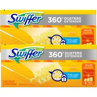 (2 Pack) Swiffer Dusters Heavy Duty Extendable Handle Starter Kit (1 Handle, 3 Dusters)