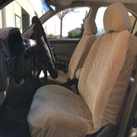 Thick Heavy Protective Smooth Textured 4pc Front 2 Universal Fit Seat Cover FORD ESCAPE (Beige Tan)