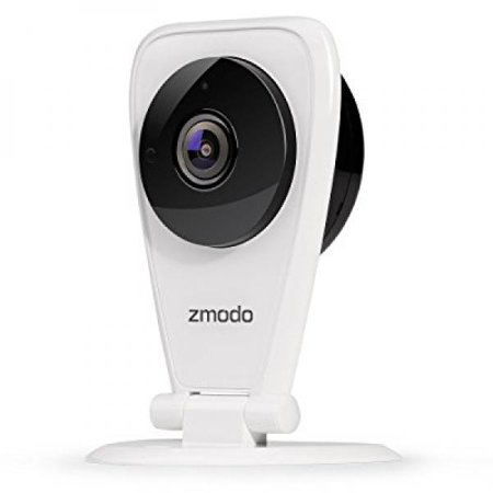 Zmodo EZCam 720p HD WiFi Wireless Security Surveillance IP Camera System with Night Vision and Two Way Audio, Work with Google Assistant