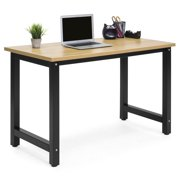 Best Choice Products Large Modern Computer Table Writing Office Desk Workstation - Light Brown/Black