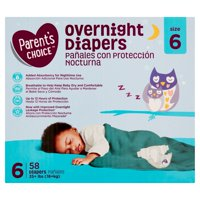 Parent's Choice Overnight Diapers (Choose Size and Count)