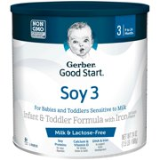 Gerber Good Start Soy Non-GMO Powder Infant and Toddler Formula, Stage 3, 24 oz.