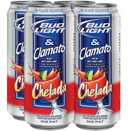 Bud Light & Clamato Chelada Beer, 4 pack, 16 fl oz