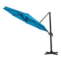 Mainstays Reinhardt 11' Blue Cantilever Patio Umbrella