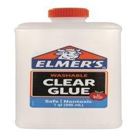 Elmer's Liquid School Glue, Clear, Washable, 32 Ounces - Great for Making Slime