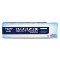 Equate Anticavity Fluoride Radiant White Tooth Paste, Cool Mint, 4.8 Oz