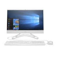 """HP 22 All-in-One PC 21.5"""", Intel Celerion G4900T, Intel UHD Graphics 610, 1TB HDD, 4GB SDRAM, DVD, Privacy Webcam, Snow White, 22-c0063w"""