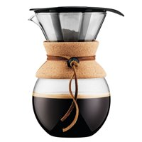 Bodum POUR OVER Coffee Maker with Cork Band, 1 L, 34 oz, 8 Cup