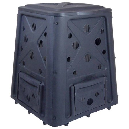 Redmon Green Culture Compost Bin - Black (Bosmere 58 Gallon Country Wood Compost Bin)