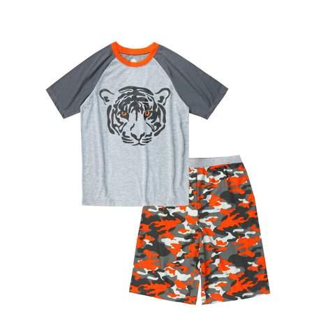 Wonder Nation Boy's 2 Piece Pajama Short Sleep Set (Big Boys & Little - Glow In The Dark Skeleton Pajamas Boys