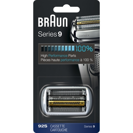 Braun Shaver Replacement Part 92S Silver - Compatible with Series 9 Shavers