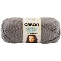 Caron Simply Soft Party Yarn, Platinum Sparkle