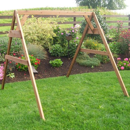 A & L Furniture Western Red Cedar A-Frame Swing Stand for Swing or Swing Bed ()