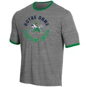 8f617b9d1 Men s Russell Heathered Gray Notre Dame Fighting Irish Athletic Fit Crew  Neck Tri-Blend T