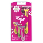 Gillette Daisy 3 Women's Disposable Razors - 4 Pack