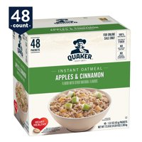 Quaker Instant Oatmeal, Apples & Cinnamon, 48 Packets