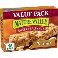 Nature Valley Granola Bar, Snack, Sweet and Salty Bar, Peanut 12 Bars