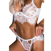 Women Lingerie Sexy Bra and Panty Set Lace Babydoll 2 Piece Outfits (2 Piece Ruffled Lingerie Set)