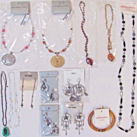 13 Wholesale Lot $128 Fashion Jewelry Necklaces Earrings Bracelet - Costume Jewelry